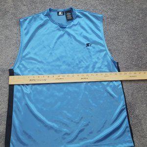 starter size L RN#70892 blue black men tank top